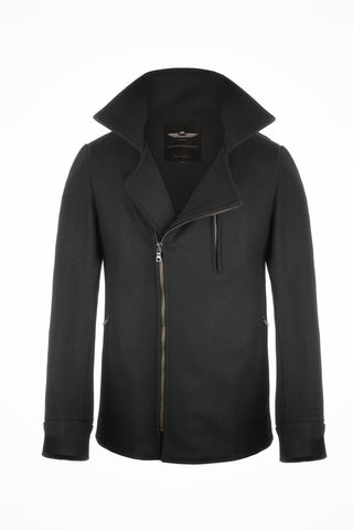 grey vaktare moto gear stylish pea coat