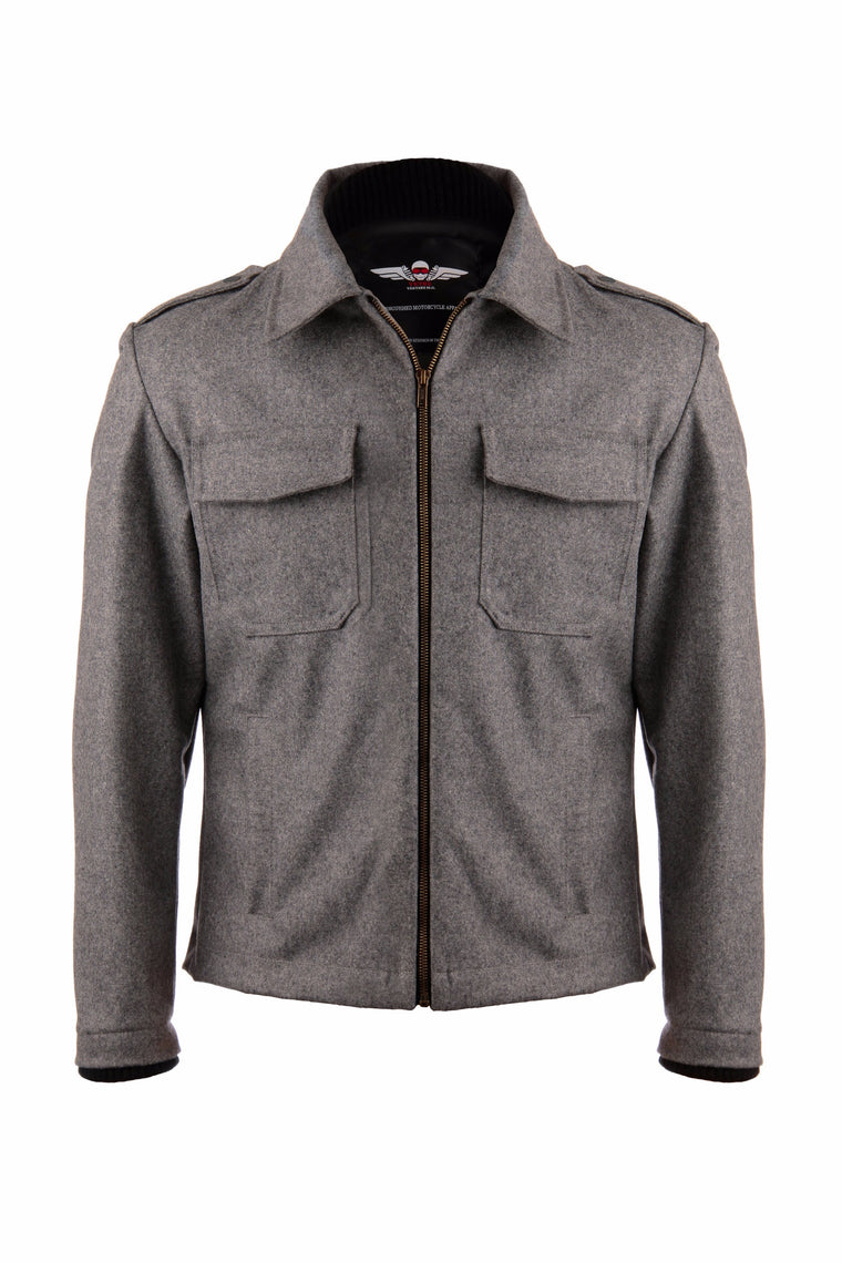 BOMBER MOTOJACKET IN DARK HEATHER GREY