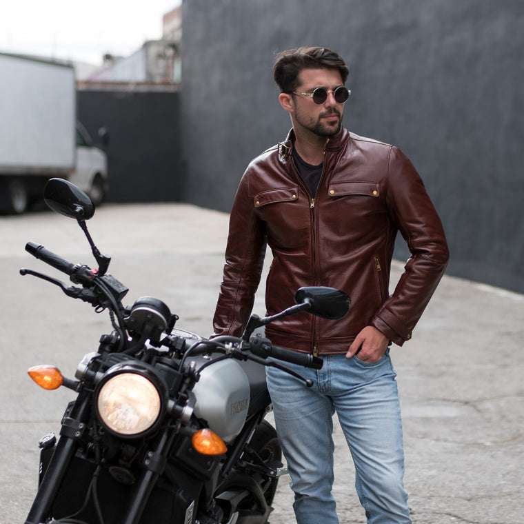 Heritage Leather Road Jacket Rental