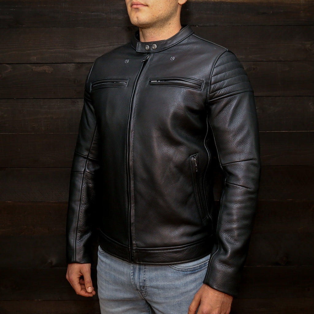 The Pilot Racer Jacket With Detachable Red Hood