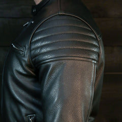 pilot racer jacket by vktre moto co. black motorcycle