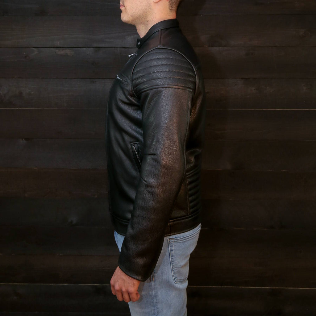 pilot racer jacket by vktre moto co. black