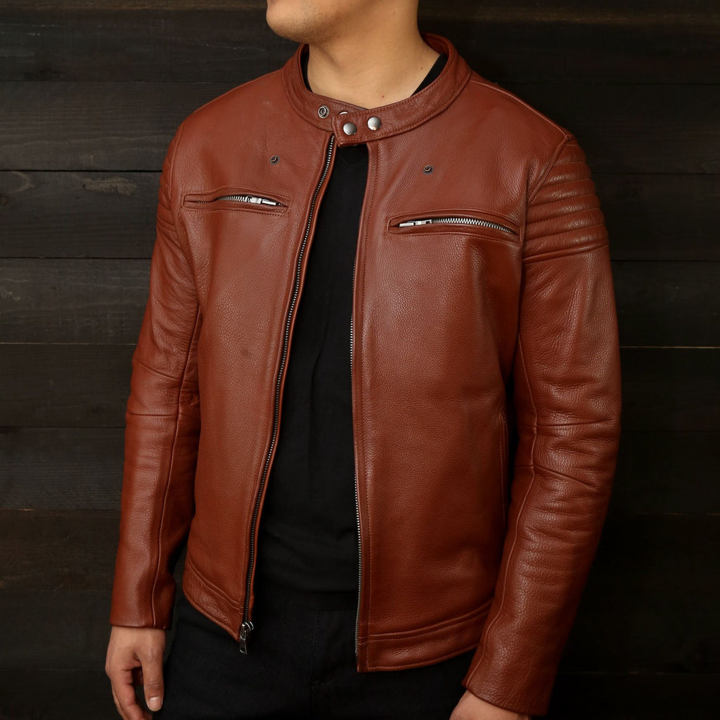 los angeles made leather motorcycle jacket vktre moto