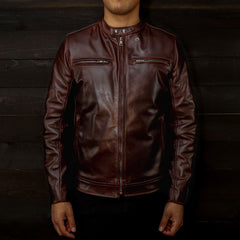 vktre moto italian full grain leather jacket