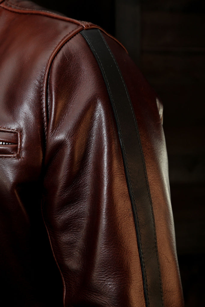 The Pilot Racer Italian Steerhide With Detachable Collar