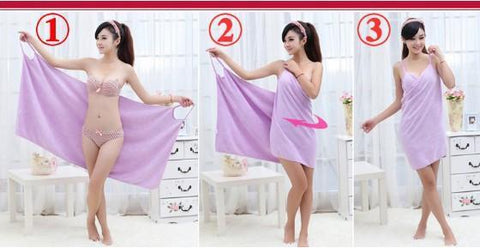 Wearable Towel Dress Robe- Dashlux