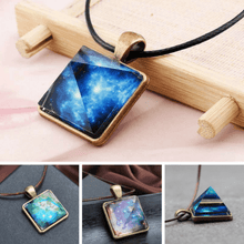 Glowing Crystal Geometric Pyramid Pendant