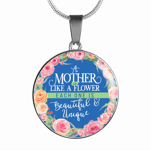 A Mother is Like A Flower Necklace or Bracelet - Dashlux
