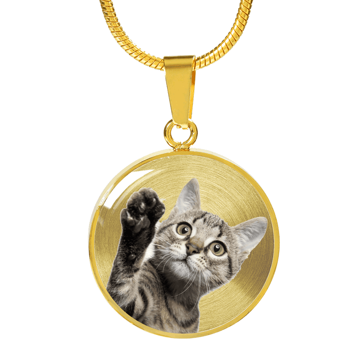 Cute Cat 18K Gold Pendant Necklace - Dashlux