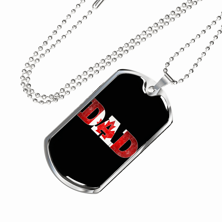 Canada Dad Dog Tag Necklace - Dashlux