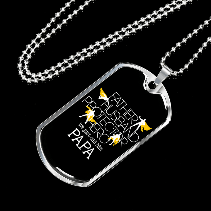 We Just Call Him Papa Dog Tag Necklace - Dashlux