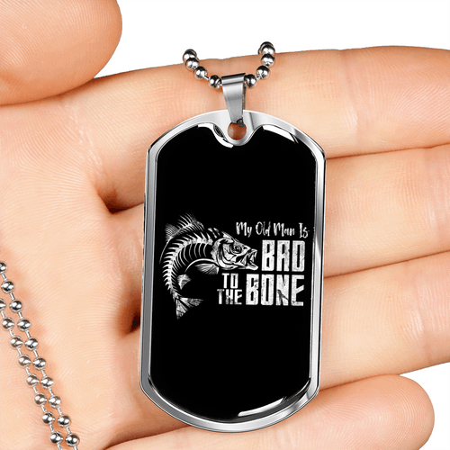 Bad to the Bone Dog Tag Necklace - Dashlux