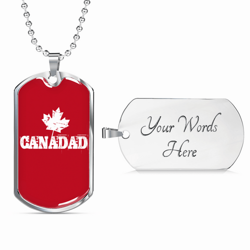 Canadad Dog Tag Necklace - Dashlux