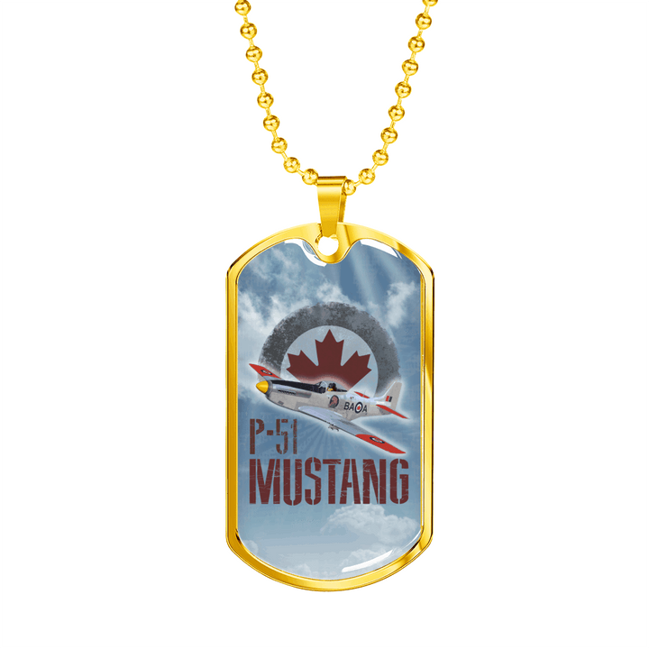 P-51 Mustang Dog Tag Luxury Necklace - Dashlux