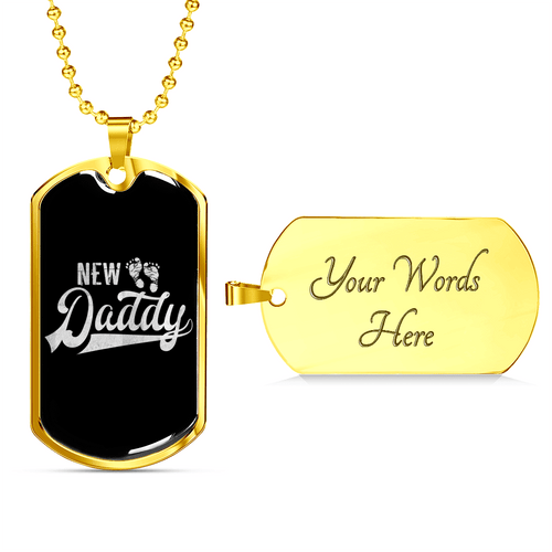 New Daddy Dog Tag Necklace for Men - Dashlux