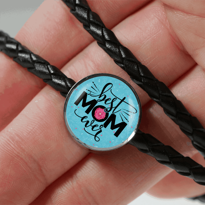 Best Mom Ever Charm Leather Bracelet - Dashlux