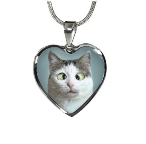 Custom Cat Heart Necklace - Dashlux