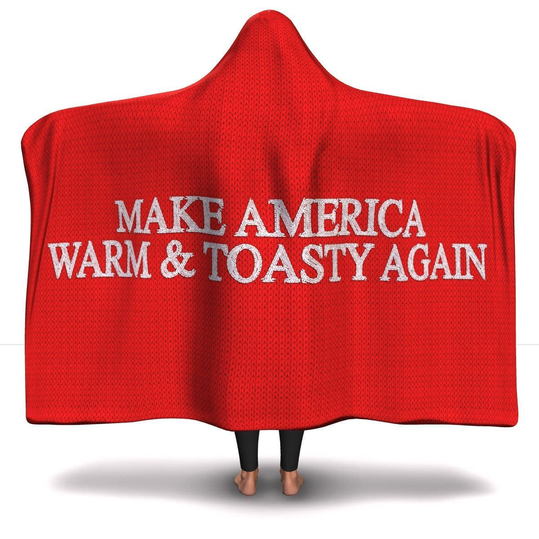 Make America Warm & Toasty Agan Hooded Blanket