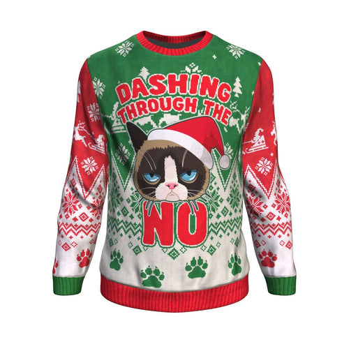 Funny Cat Ugly Christmas Sweater-Dashlux
