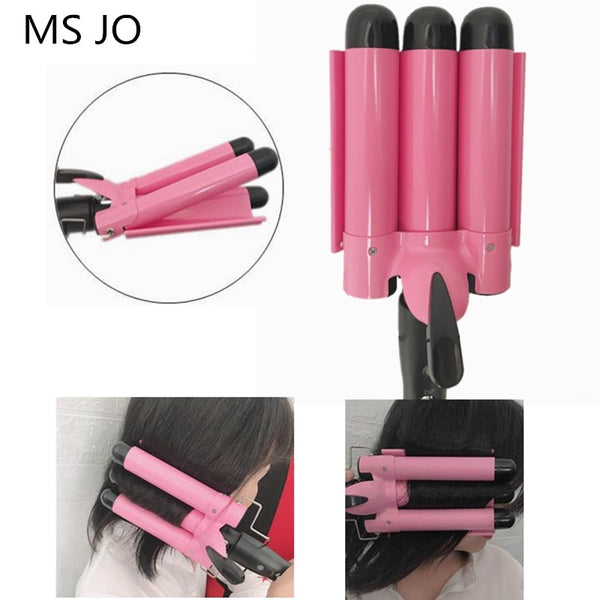 Triple Barrel Curling Iron