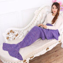 Knitted Mermaid Tail Blanket - Dashlux