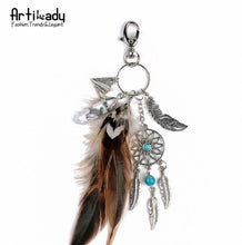 Opal stone Dreamcatcher keychain for women - Dashlux