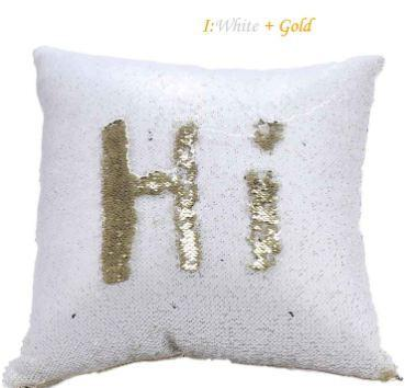 Reversible Mermaid Sequin Pillow cover - Dashlux