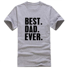 Best Dad Ever O-neck Short Sleeve Cotton T-shirt - Dashlux