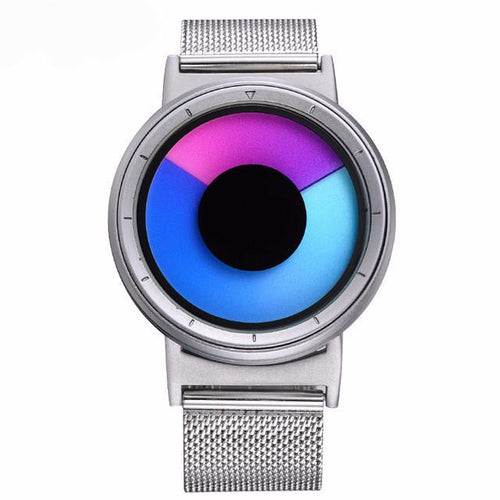 purple silver fashion sports quartzwatch