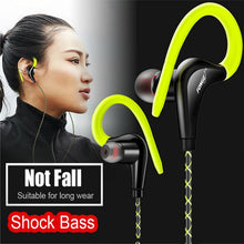 Ear Hook Sport Stereo HIFI Metal Bass Earphone with Mic - Dashlux