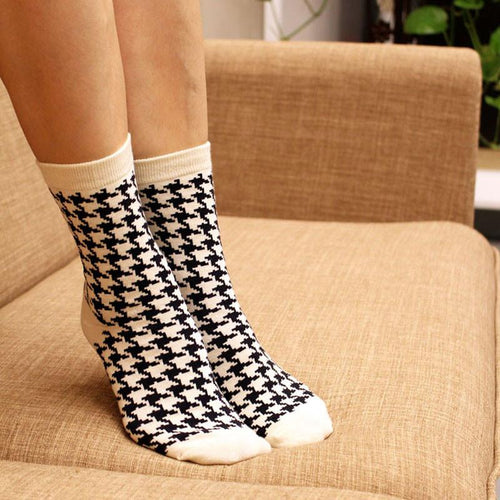 British Style hounds-tooth Socks - Dashlux