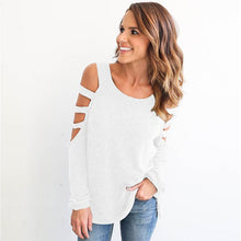 Off  Shoulder Casual Long Sleeve T-Shirts For Women - Dashlux