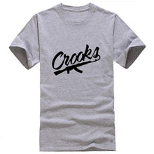 Men's Crooks Gray T-shirt New Hot Summer Style - Dashlux