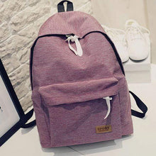Canvas Fashion Backpack -Red- Dashlux
