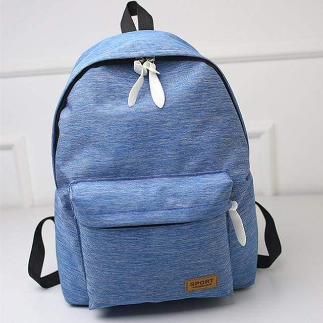 Canvas Fashion Backpack-Blue- Dashlux