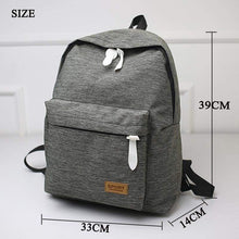 Canvas Fashion Backpack -Gray-size- Dashlux