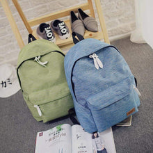 Canvas Fashion Backpack -Green-Blue- Dashlux