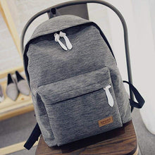Canvas Fashion Backpack -Gray-Dashlux