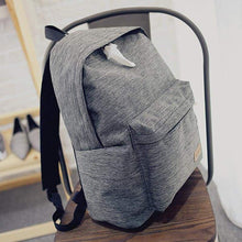 Canvas Fashion Backpack -sideview-Gray- Dashlux