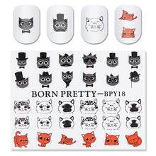 Cute Cat Nail Art Water Decals - Dashlux