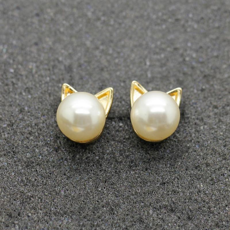 Pearl Cat Earrings - Dashlux
