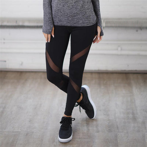 Black High Waist Sport Leggings - Dashlux