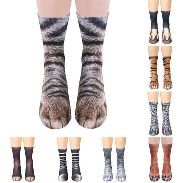 Animal Paw Crew Socks - Dashlux