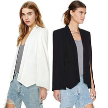 Long Sleeve Lapel Cape Poncho Blazer - Dashlux