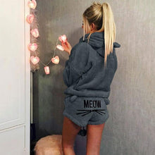 Cute Cat Hoodie Sleepwear Set