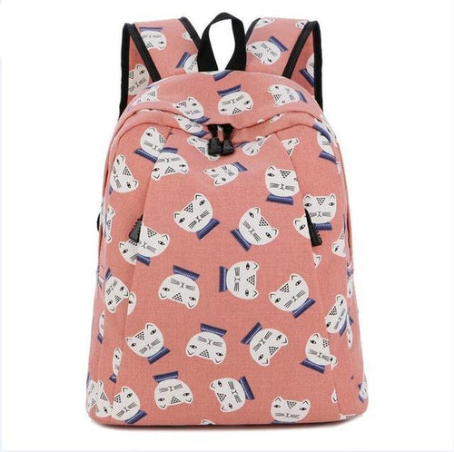 Preppy Style Cat Backpack