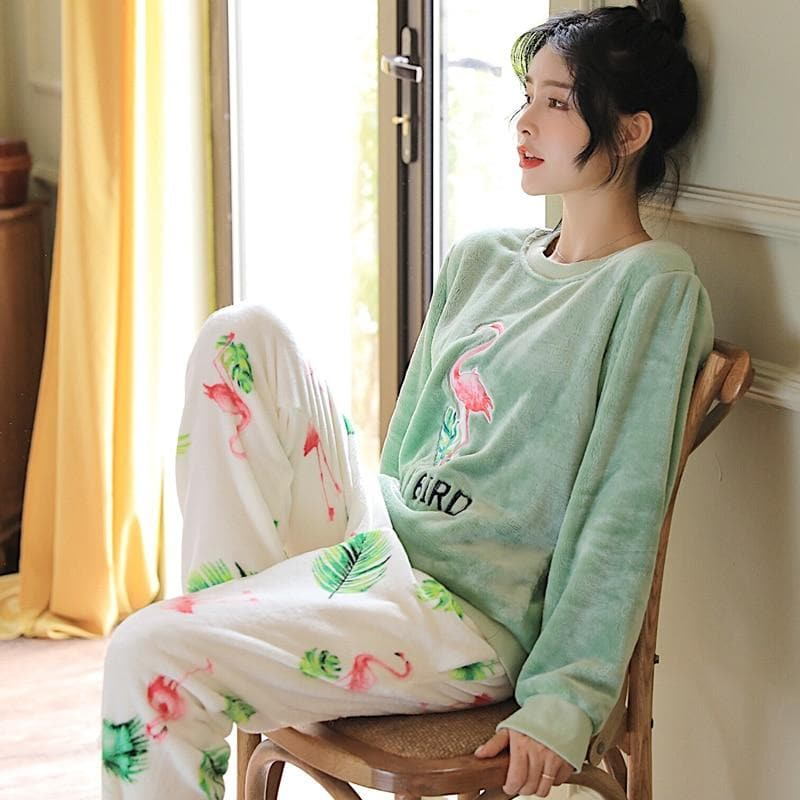 Flamingo Women Pajama Sets