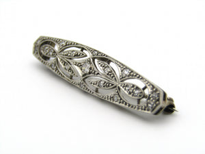 18kt gold and platinum Art Deco diamond brooch.