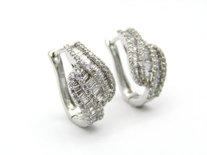 Pair of 18kt white gold diamond earrings by Browns.