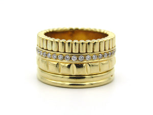 18K gold Boucheron Diamond Quatre Radiant style ring.